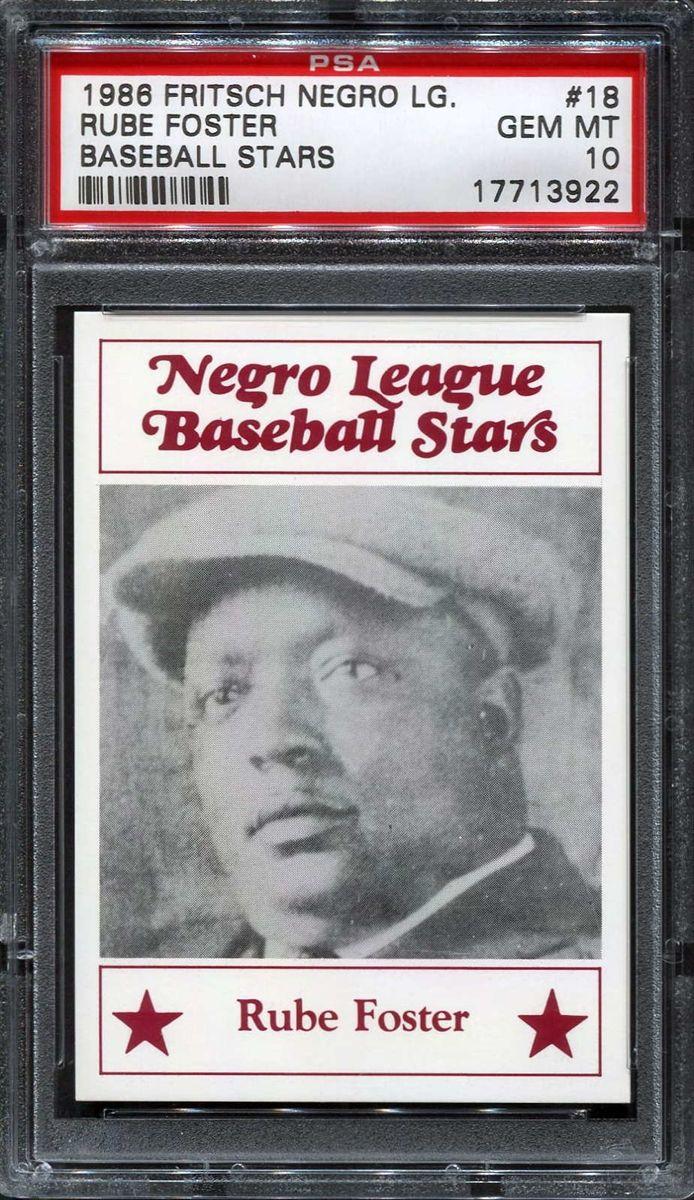 negro league baseball | 1986 FRITSCH NEGRO LEAGUE BASEBALL STARS 18 RUBE FOSTER H632000024