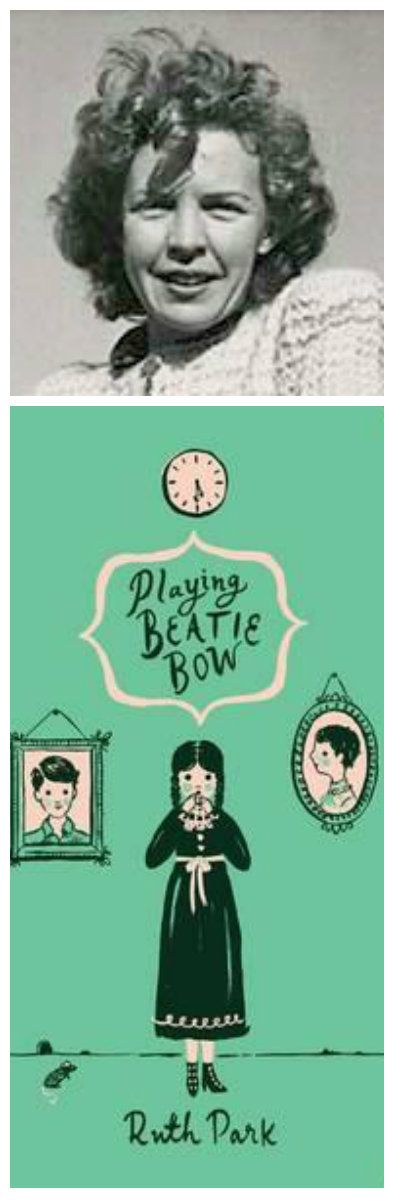 For homeschooling: Bookmark for my children of Playing Beatie Bow and it's author Ruth Park.