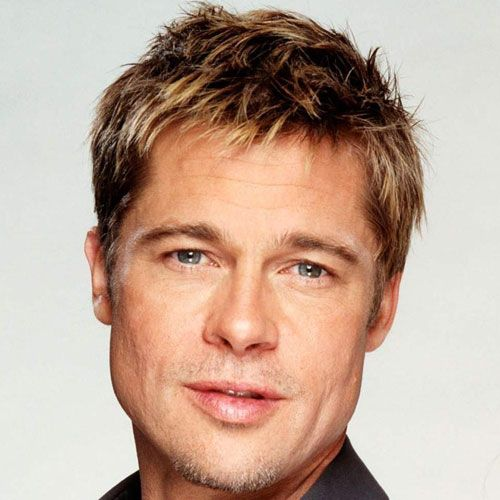Brad Pitt Young mit kurzen Haaren