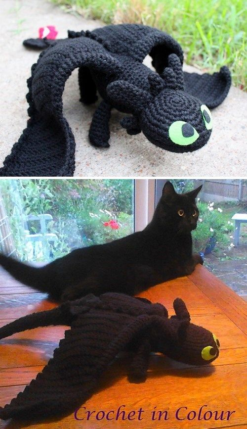 Knitting Pattern Toothless Dragon : 1000+ ideas about Crochet Toothless on Pinterest Crochet Dragon, Crocheting...