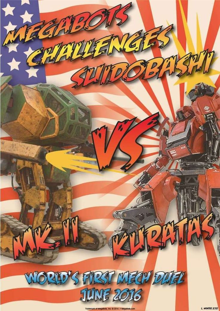 June 2016: America and Japan to face off in giant robot combat