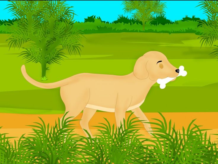 This short moral story for kids - the story of the greedy dog  and its shadow is a retelling based on the original story from  Aesops fables. This story  conveys  the moral that one should  not be greedy.