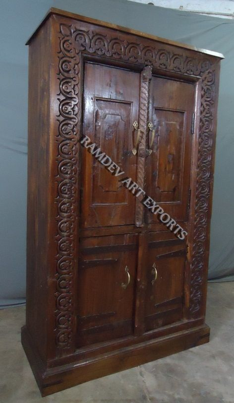 Indian Vintage Door Almirah. Vintage DoorsReproduction  FurnitureWardrobeCabinetIndia