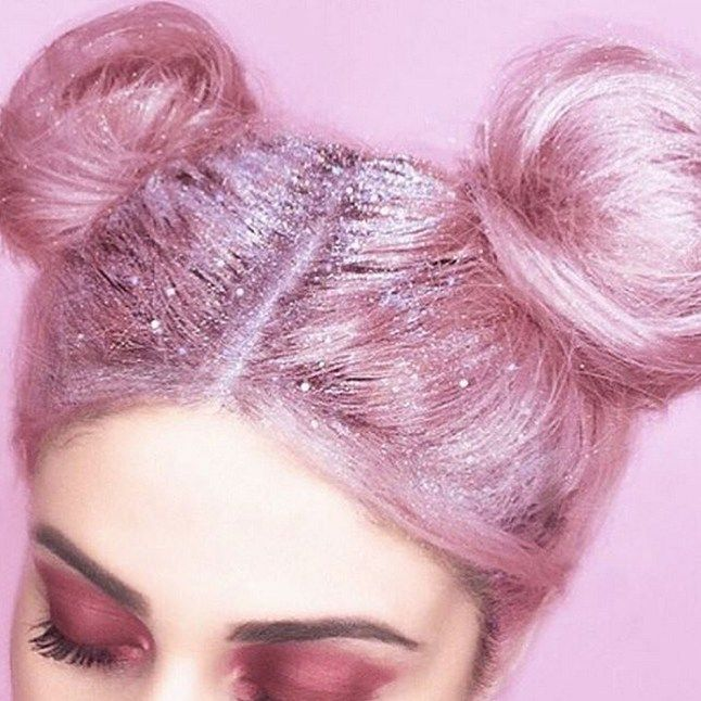 Prepare to get your sparkle on... glitter roots are officially a THING