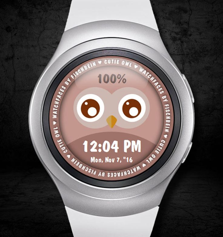 Cutie Owl 12h – Watchfaces by Fischbein