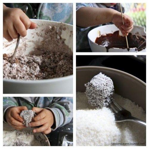 Toddler friendly recipe: Lamingtons. #recipes #toddler