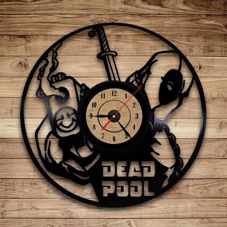 Deadpool Vinyl Record Clock Gift Ideas Pinterest