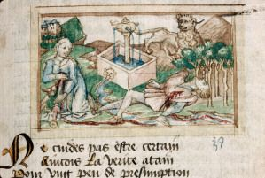 Suicide de Pyrame et de Thisbé - manuscrit de Lille 1460