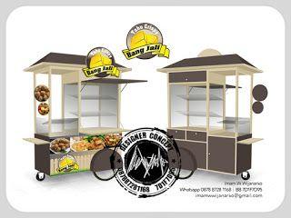 Jasa Desain Logo Kuliner |  Desain Gerobak | Jasa Desain Gerobak Waralaba: Desain Gerobak Dorong Tahu Crispy Bang Jali 2