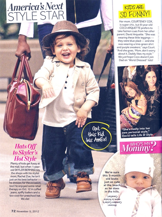 Us Weekly features celebrity stylist, Rachel Zoe's son in our fedora  http://www.livandlily.com/ecom/index.php?route=product/category=64_92