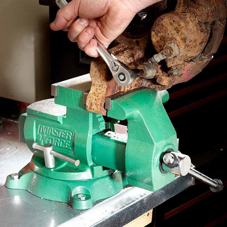 Get a Beefy Bench Vise     A wimpy $30 vise may satisfy your wallet, but you'll regret buying one the first time you have to crank the bolts off a really big part. So skip the cheapies and invest in a heavy-duty vise. You want a vise with at least 5-1/2-in. jaws, a pipe clamping area, dual swivel locks and a large anvil area. I found this model at a home center for $100. But you can find great deals on good used vises on Craigslist or at neighborhood garage sales.