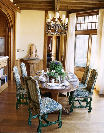 TuscanDining Rooms, Reproduction Tables, Bunny Williams, Room Decor Ideas, Bunnies Williams, Dining Room Decor, English Reproduction, Breakfast Room, Dining Room Design