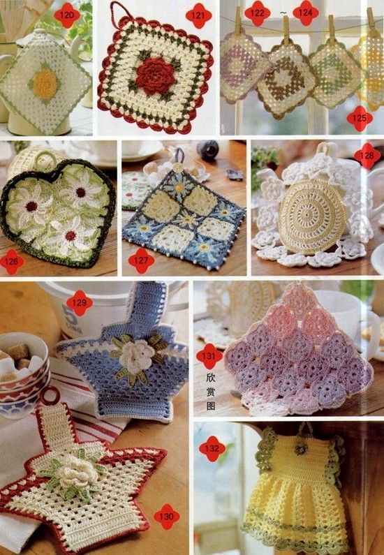 Free Diagram chart patterns for dozens and dozens of different vintage  potholders and dishcloths.