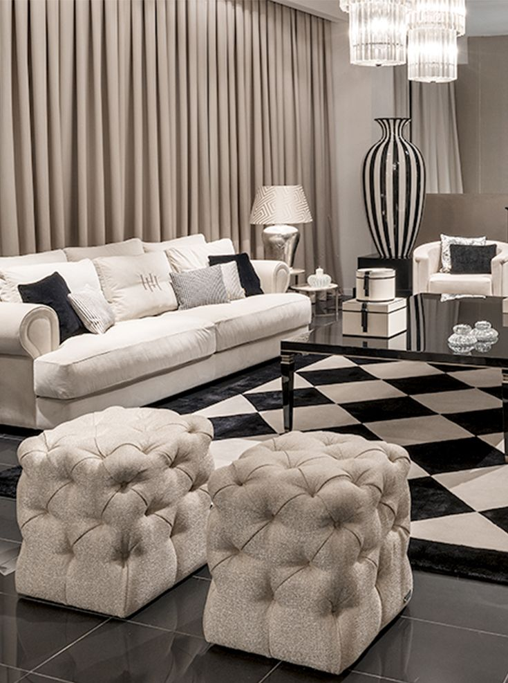 Life is not black and white but your living room can be - What do you need in a living room ...