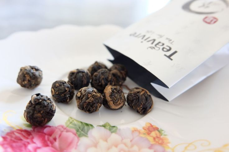 teavivre dragon pearl black tea
