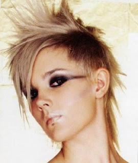 Rocker girl hairstyle