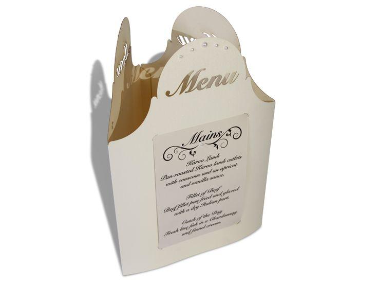 Laser Cut Card Wedding Menus