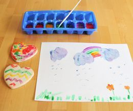 How to Make Edible Paint - for art time on paper or food!