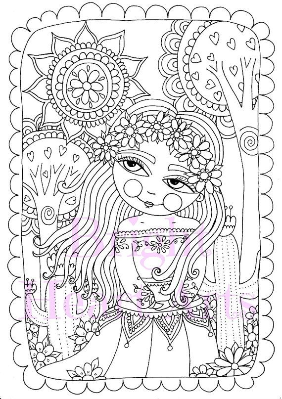 200 Best Coloriage Fille Images By Cathy K On Pinterest
