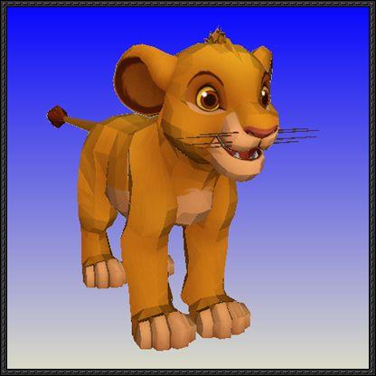 The Lion King - Kid Simba Free Papercraft Download - http ...