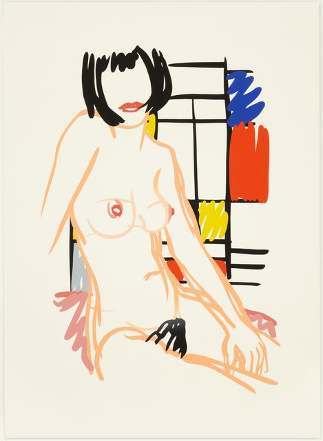 Tom Wesselmann (1989): Monica Sitting with Mondrian