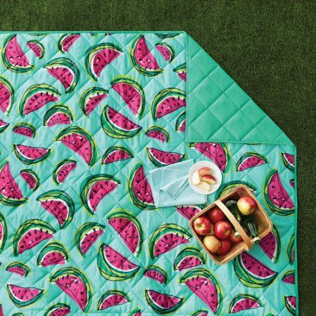 Mainstays Outdoor Blanket - Watermelon Print $9.97