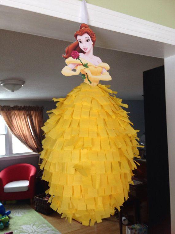 Piñata de princesa de Disney  bella bella y la bestia