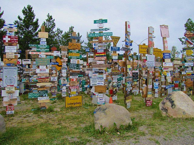 Sign Post Forest in Watson Lake, Yukon Territory, Canada along the Alaska Highway