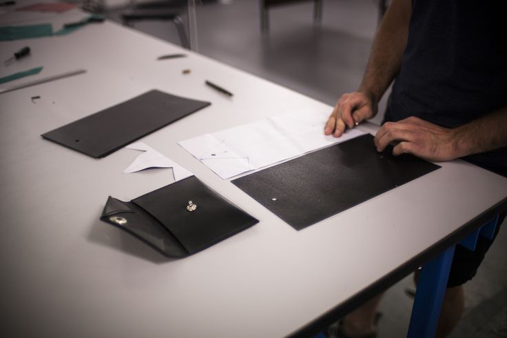 Producing the Arklet pouch.