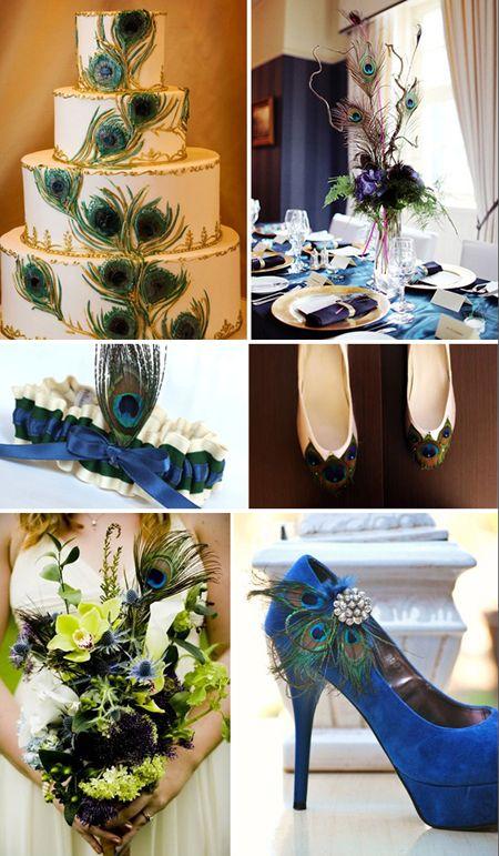 peacock+wedding | Pretty Peacock Wedding Inspiration | Blog | Botanical PaperWorks