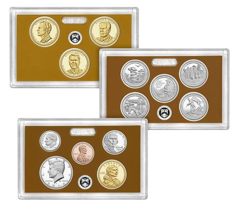With the U.S. Mint 2016 Proof Coin Set, you will get all 13 proof coins dated 2016 encased in three clear plastic lenses and newly designed package you'll be proud to display. The 2016 Proof Coin Set is a great addition for the collector.    The 2016 edition of the United States Mint Proof Coin Set includes the following...