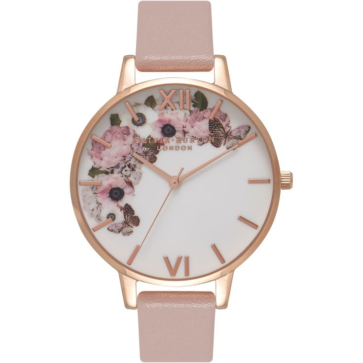 This attractive  Olivia Burton Vegan Friendly watch is made from PVD rose plating and is powered by a quartz movement. It is fastened with a pink plastic/resin strap and has a multicolour dial.