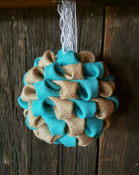 Check out this item in my Etsy shop https://www.etsy.com/listing/293435573/turquoise-teal-and-burlap-wedding-decor