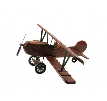 Groot decoratief houten vliegtuig. Oorspronkelijke decoratie voor een restaurant. Nu erg stoer op een kinderkamer!  http://www.olddays.nl/decoratie/331-houten-vliegtuig.html