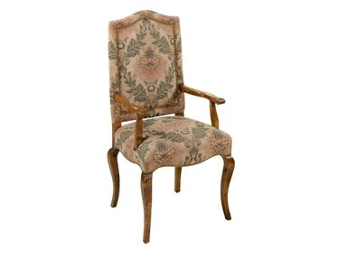 Shop for chaddock country french high back arm chair with for High back dining room chairs with arms