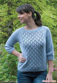 Пуловер реглан - Вязание спицами - Страна Мам