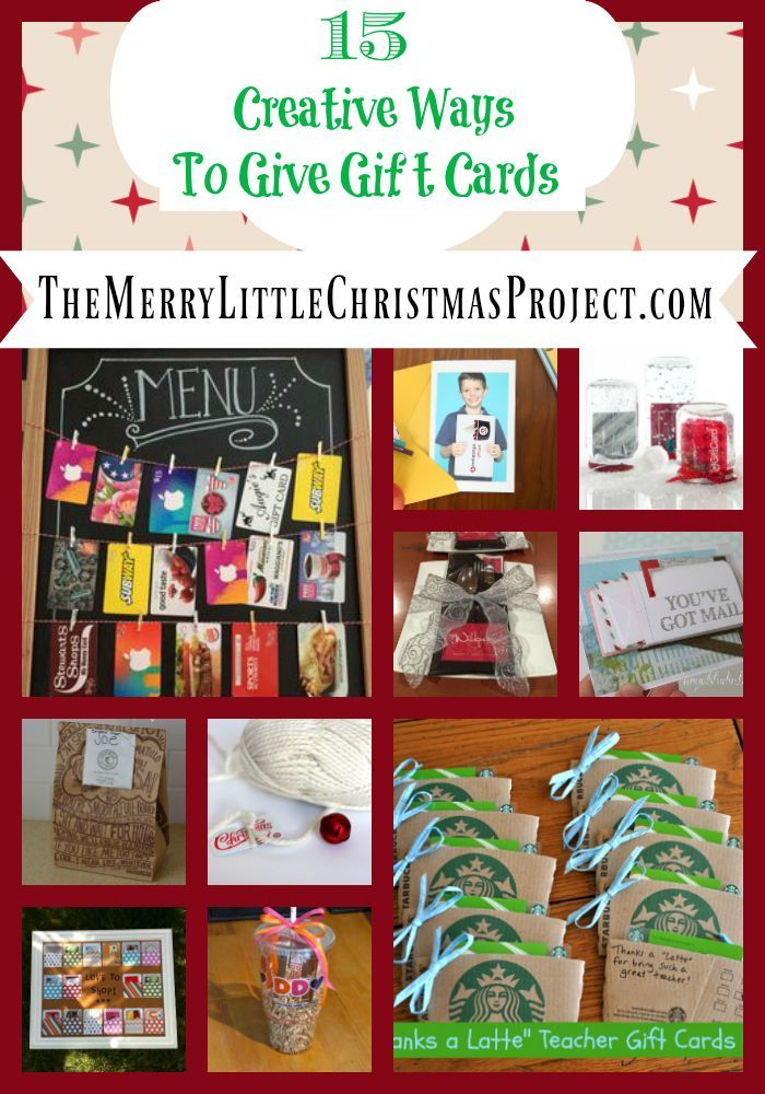 15 Creative Ways to give Gift cards!