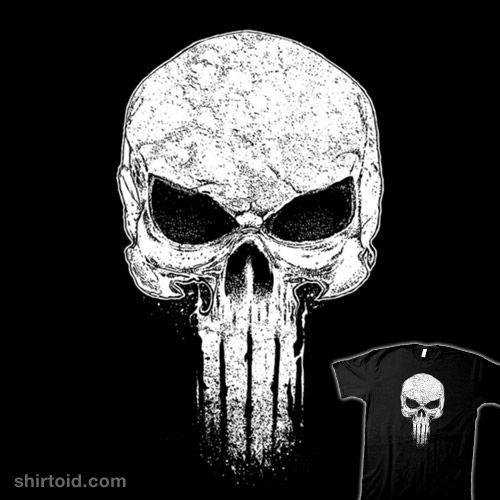 Punished   Shirtoid #brankoricov #comic #comics #film #movies #punisher #ricomambo #skull