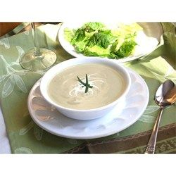 A delicious leek and potato soup enriched with a little fresh cream. Serve warm or cold.