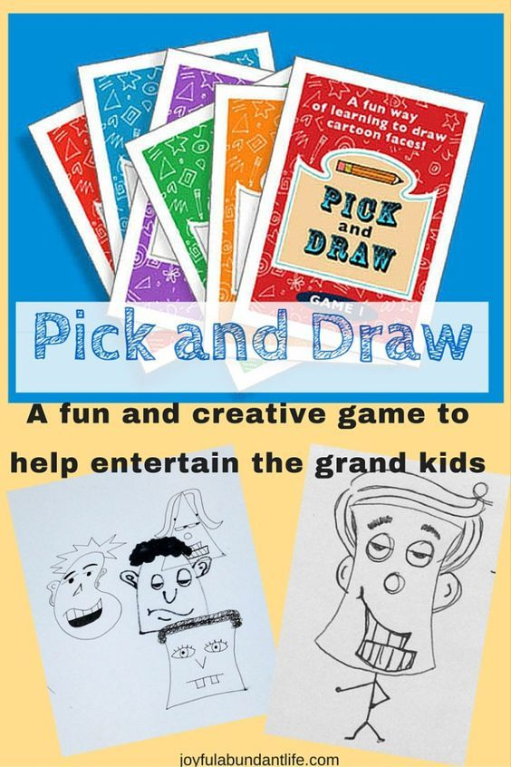 Would make a great little valentine gift. Pick and Draw - great creative fun game that will help entertain the grand kids!: