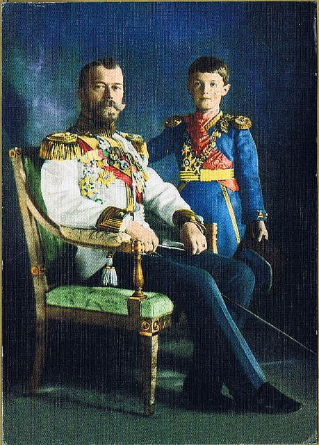 Tsar Nicolas II & Tsarevich Alexis. Nicholas was a weak, indecisive tsar but a marvelous husband and father. He never wanted to be tsar, but the early death of his father forced him to assume the throne long before he was ready. The results were to be disastrous. Now known as Saint Nicholas Romanov, he is a saint martyr of the Russian Orthodox Church as are his wife and children.