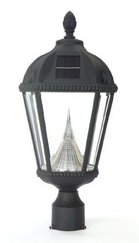 gamasonic gs 98f royal 23 inch solar powered led lamp post light. Black Bedroom Furniture Sets. Home Design Ideas