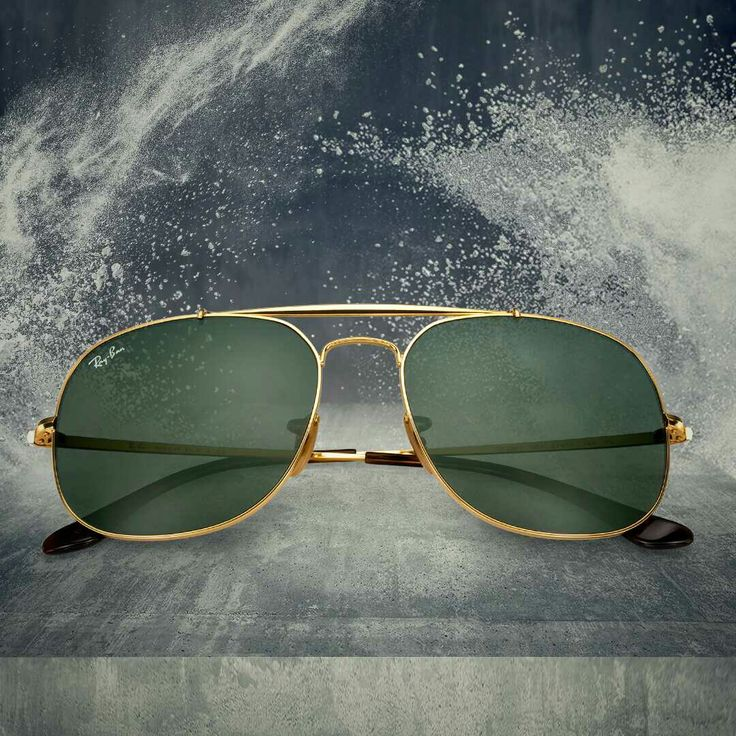 Rayban - Sunglasses & Eyeglasses  Rayban Authorised Store In Ahmedabad   RB3561 Ray-Ban the General is the ultimate celebration of the iconoclastic spirit of Ray-Ban. The bold and unmistakable design was originally created back in 1987 as a tribute to the pioneering spirit of General Douglas Macarthur. Today's design is slightly reinterpreted, staying true to the Aviator spirit yet with more squared lenses and a bold upper bar. Ray-Ban the General exhibits a durable & tough look