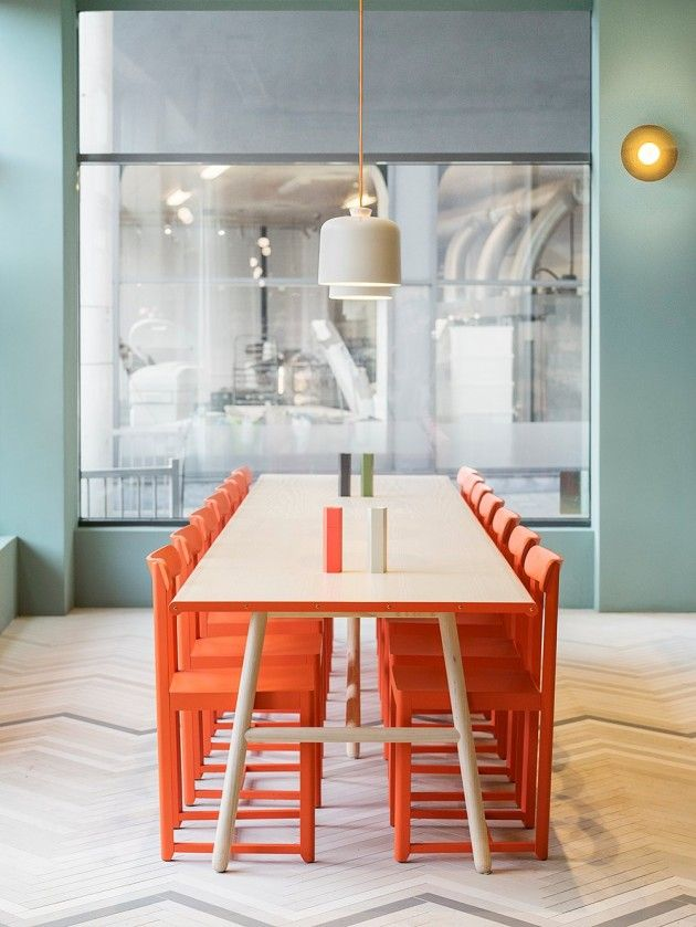 Note Design Studio have collaborated with Lerch to design Finefood, a restaurant and coffee shop in Stockholm, Sweden.