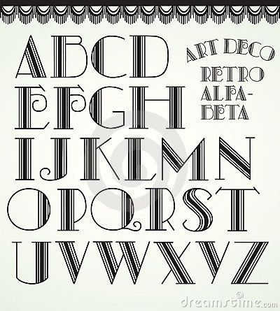 lettering with an art deco look