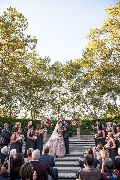 Fall al fresco wedding at Beaulieu Gardens: http://www.stylemepretty.com/2014/08/06/fall-al-fresco-wedding-at-beaulieu-gardens/ | Photography: http://ellejae.com/