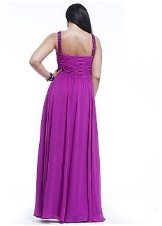 Elegant Chiffon Sweetheart Neckline Floor-length A-line Plus Size Prom Dress