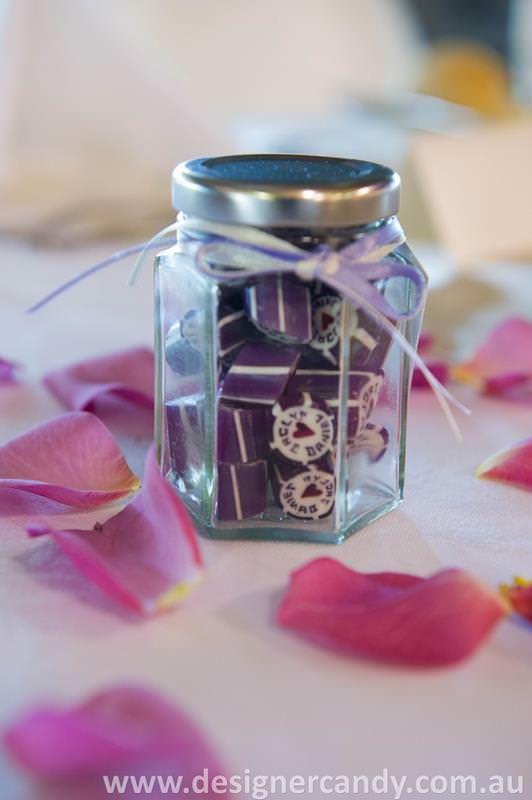 Jaclyn & Daniel 1 Designer candy personalised wedding bomboniere favors elegant cute small pretty modern