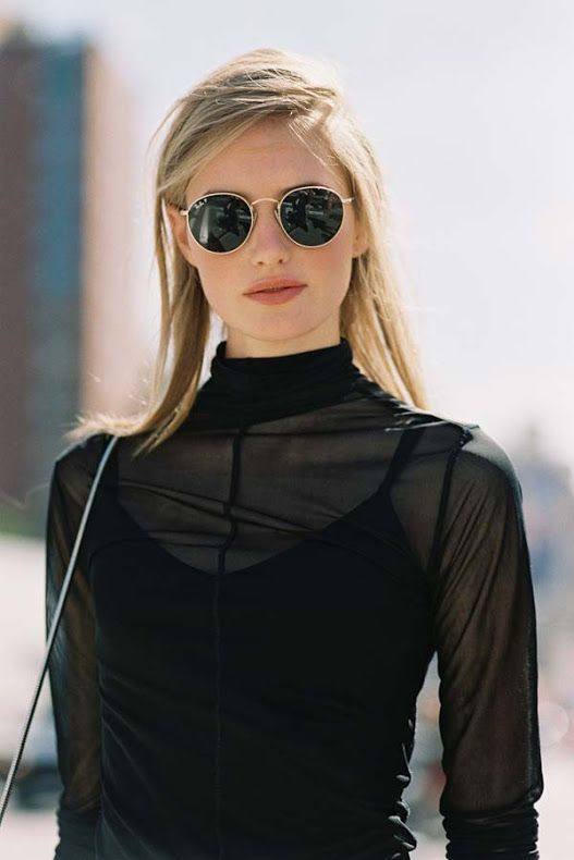 New York Fashion Week SS 2016....Sanne (Vanessa Jackman) All black everything | Minimalist fashion and style | Scandinavian style | black on black | monochromatic fashion | Style ideas for minimalists | Konmari | Minimal Chic | Classic