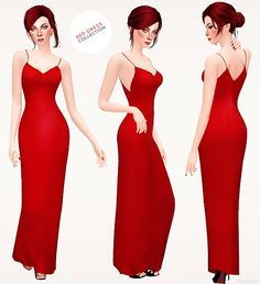 Sims 2 red dress uk